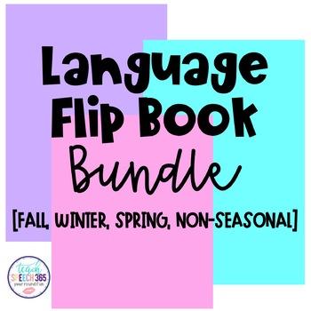 Fall, Winter, Spring, and Non-Seasonal Language Flip Book BUNDLE