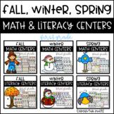 Fall, Winter, Spring Math & Literacy Centers {BUNDLE}