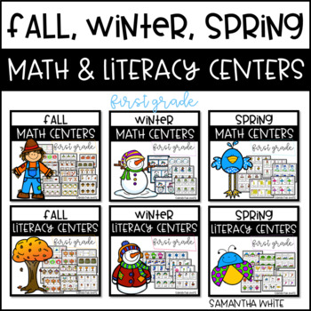 Fall, Winter, Spring Math & Literacy Centers {BUNDLE}