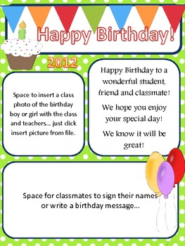 fall winter spring summer newsletter pack bonus birthday sheet