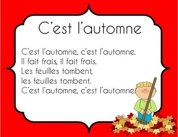 Fall, Winter, Spring and Summer Songs in French