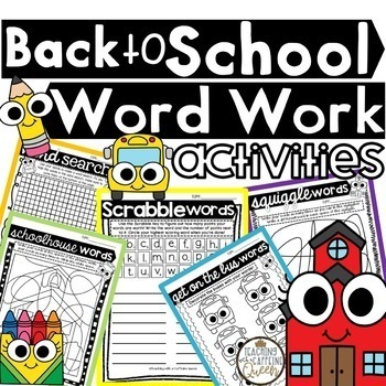 Fall & Winter Word Work Activities - NO PREP - Use with Any Word List