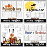 Fall & Winter Seasonal Writing Paper Bundle Set