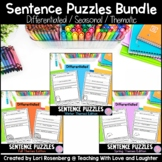 Sentence Puzzles BUNDLE {Fall, Winter, and Spring Themes Edition}