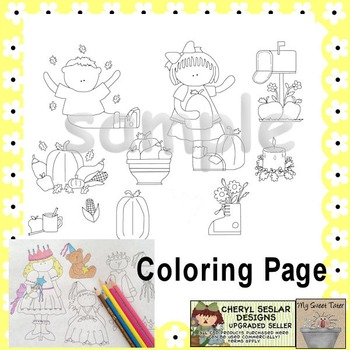 Fall Wishes Coloring Page