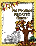 Fall Woodland Math fact Fluency Addition CRAFT