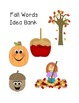 Fall Word Activities