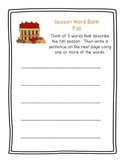 Fall Word Activities