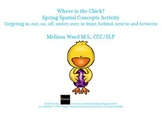 Where is the Chick? Spring Spatial Concept Activity Preview
