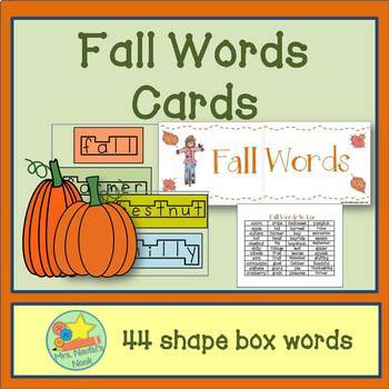 Fall Word Wall Words