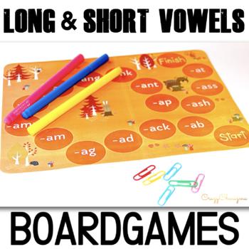 Word Families Board Games (Short A,E,U,O,I)