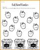 Word Families Worksheets Bundle for Fall {No Prep}