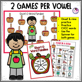Word Family Short Vowel Games Fall Themed