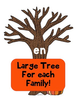 Fall Word Family Sort - Match Words to The Family Tree