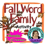 Fall Leaf Sort - Word Family Trees Bundle - 3 Sets covering 21 Word Families!