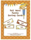 Fall Word Family Sorting Cards