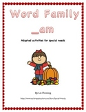 Fall Word Family /_am/