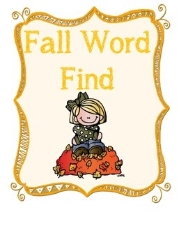 Fall Word Find: Nouns and Verbs