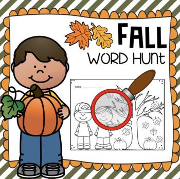 Fall Word Hunt