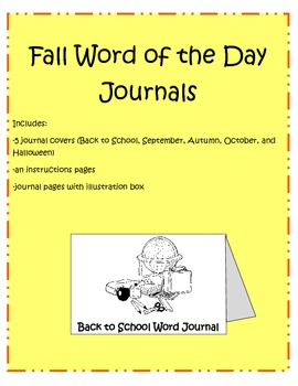 Fall Word Journals