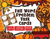 Fall Word Problem Task Cards & Game Board (K-2)