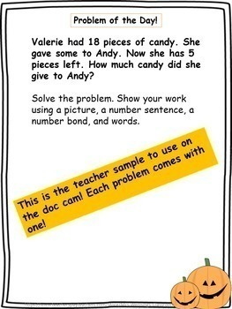 Fall Word Problems & Math Interactive Notebook Activities Pack!