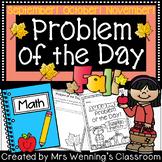 Fall Word Problems & Math Interactive Notebook Activities Bundle!