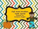 Fall Word Problems FREEBIE!