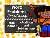 Fall Word Problems Task Cards