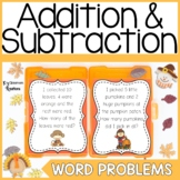 Fall Addition and Subtraction Word Problems