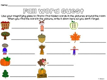 Fall Word Quest