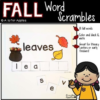Fall Word Scrambles