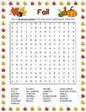 Fall Word Search (25 Words)