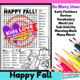 Fall Word Search Activity