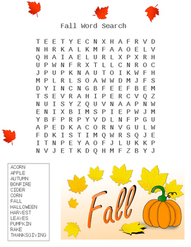 Fall Word Search