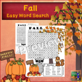 Fall Word Search   EASY Puzzle