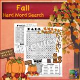 Fall Word Search *Hard