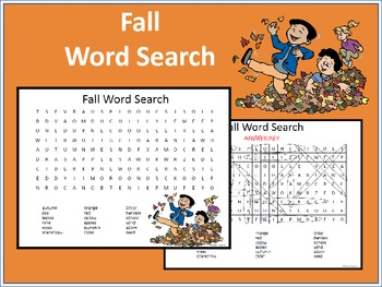 Fall Word Search No. 1