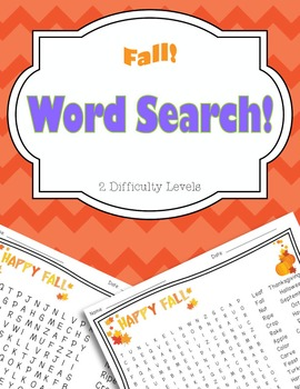 Fall Word Search Pack