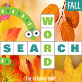Fall Word Search Puzzle - 3 Levels Differentiated