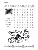Fall Word Search Puzzle / 1st Grade