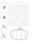 Fall Word Search Puzzle / 4th Grade