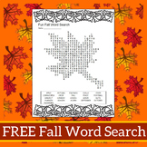 Fall Word Search Puzzle - Freebie