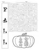 Fall Word Search Puzzle / 3rd Grade