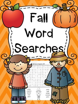 Fall Word Searches
