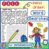 Fall Word Searches - Intermediate {Gr 4-7}