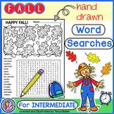 Fall Word Searches - Intermediate {Gr 4-7}