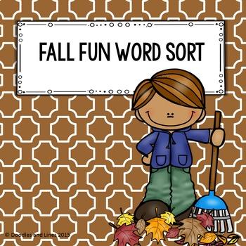 Fall Word Sort