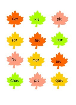 Fall Word Sort Freebie