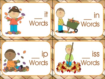 Fall Word Sort-Short Vowel /i/